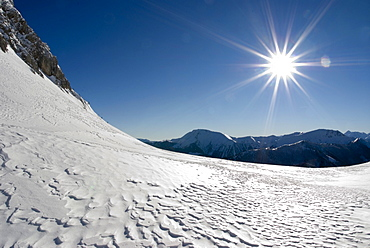 Sunny winter day in the Gesaeuse National Park, Styria, Austria, Europe