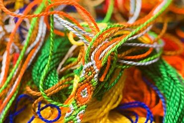 Artistically wool yarn