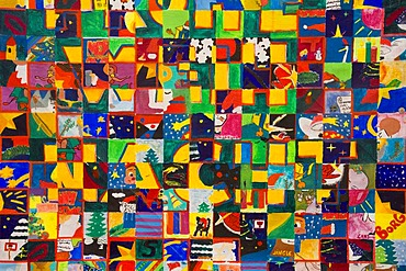 Mosaic paint (X_mas) from child