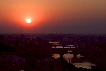 Sunset in Florence (Italy)