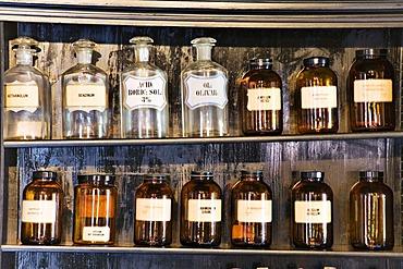 Shelf in a pharmacy