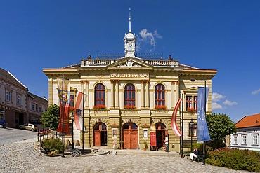 Town hall in Weitra, Waldviertel Region, Lower Austria, Austria