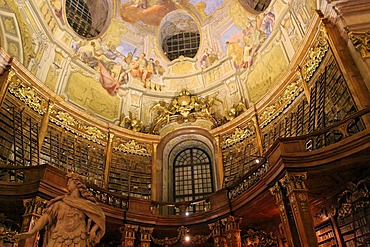 Austrian National Library, Ceiling Fresco, Vienna, Austria