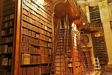 Austrian National Library, many old Books, Vienna, Austria