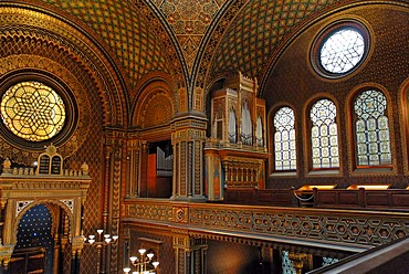 Jewish quarter, spanish synagogue, interior, Prague, Czech Republic