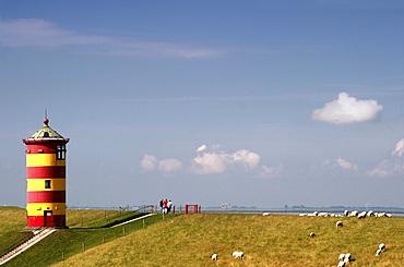 Lighthouse of Pilsum, Norther Sea coastline, Pilsum, Germany
