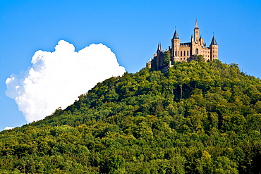 Castle Hohenzollern, Swabian Alb, Baden-Wuerttemberg, Germany
