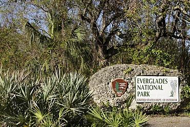 Entrance to the Everglades National Park, Florida, USA