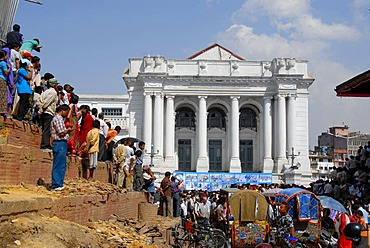 Assembley of many people Durbar Square Royal palace Hanuman Dhoka Kathmandu Nepal
