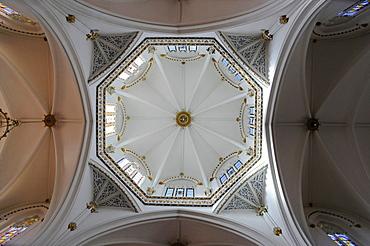 Dome, interior, Iglesia de la Purissima Xiqueta Church, Benissa, Alicante, Costa Blanca, Spain