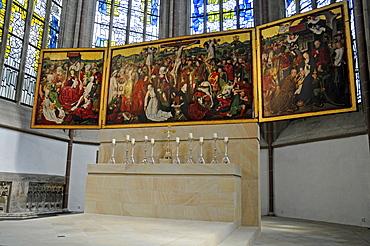Winged alter of the Propsteikirche Church, Dortmund, North Rhine-Westphalia, Germany, Europe