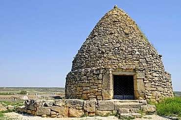 Los Neverones, Neveras, ice house, historical stone house for the storage of snow and production of ice, Fuendetodos, Aragon, Spain, Europe