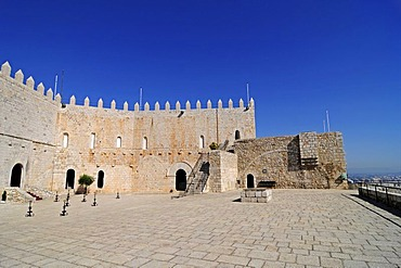 Castle built by the Knights Templar, Museum, Peniscola, Costa del Azahar, Orange Blossom Coast, Castellon, Valencia, Spain, Europe