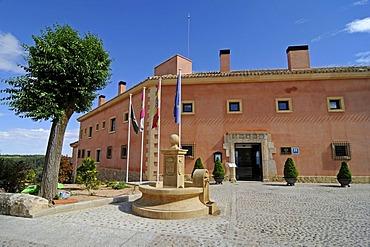 Castle Hotel Parador, Alarcon, Cuenca province, Castile-La Mancha, Spain, Europe