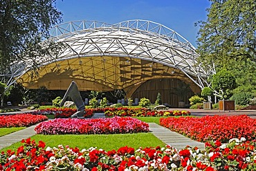 Music pavilion, stage, park, Grugapark, Essen, Ruhrgebiet, Ruhr Area, North Rhine-Westphalia, Germany, Europe