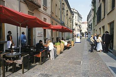 Turin Torino Piemonte Piedmont Italy Hasta coffee shop in the old town