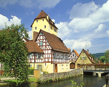 Hersbruck upon the river Pegnitz district Nuremberg country Middle Frankonia Bavaria Germany