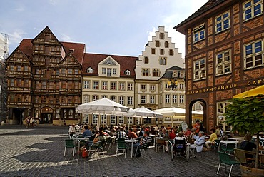 Hildesheim Lower Saxony Germany framework houses at the market place