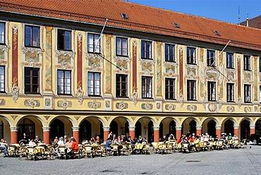 Former tax house market square Memmingen Bavarian Swabia Bavaria Germany