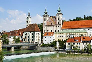 Steyr Upper Austria upont the river Traun