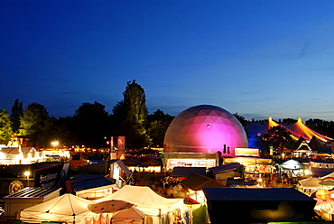 Tollwood summerfestival at the olympic park in Munich Upper Bavaria Germany