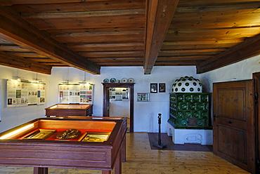 Birth Place house of the poetry Adalbert Stifter in Horni Plana at the Lipno lake Vodni Nadrz Lipno Bohemian Forest Sumava Czech Republik