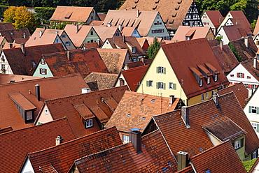 Dinkelsbuehl Romantische Strasse Romantic Road Middle Franconia Bavaria Germany