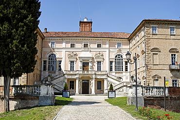 Govone in the Roero between Alba and Asti baroque castle Piedmont Piemonte Italy