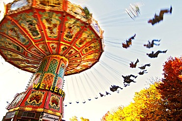 Carousel carrousel roundabout on the Auer Dult fair in Munich Bavaria Germany