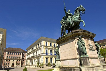 Monument statue of king Ludwig the first Wittelsbacherplatz Munic Bavaria Germany