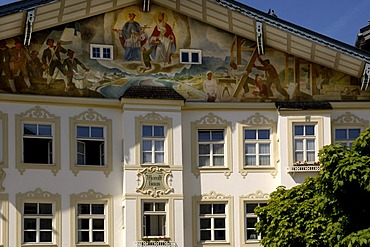 House painting in Bad Toelz Bad Tolz Upper Bavaria Bavaria Germany