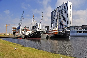 Four ships, Bremerhaven, Bremen, Germany