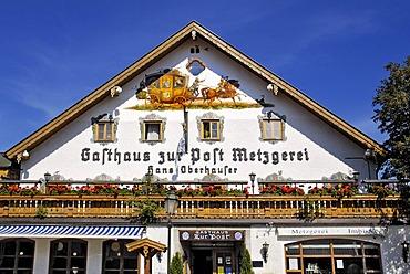 Inn in Egling, foothills of the Alps, Upper-Bavaria, Bavaria, Germany