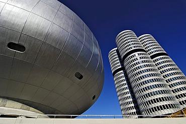 BMW Museum and BMW headquarters, Munich, Bavaria, Germany
