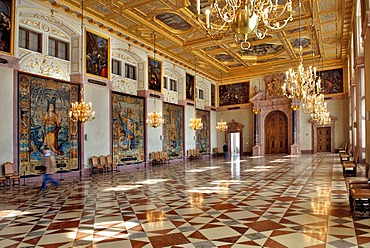 Emperor's Hall, Residenz, Munich, Bavaria, Germany