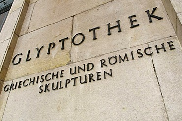 Writing on the Glyptothek, Munich, Bavaria, Germany