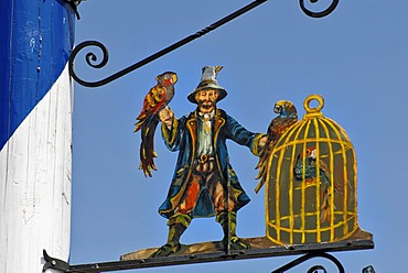 Detail of a Bavarian maypole, Bavaria, Germany