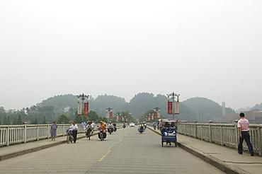 Trishaws near Chengdu, China, Asia