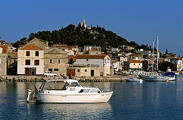Tribunj, historic fishing village on an island across from the New Marina, Croatia
