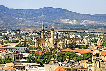 Cityscape with Selimiye Mosque, St. Sophia Cathedral, Nicosia, Cyprus