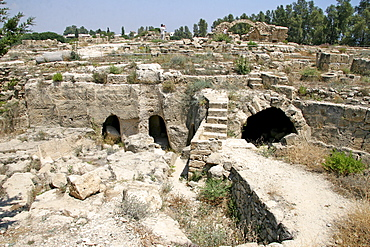 Castle ruin, Saranda Kolones, archaeology, Paphos, Cyprus