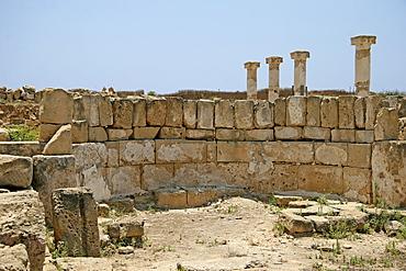 Archaeology, columns, Roman ruins, Paphos, Cyprus