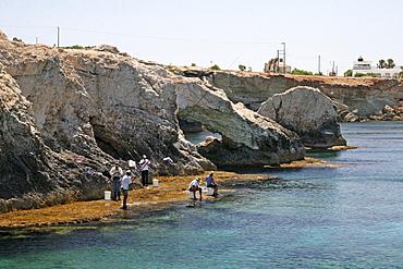 Caves, anglers, Agia Napa, Cyprus