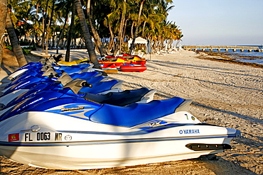Speedboats on the beach, Key West, Miami, Florida, USA