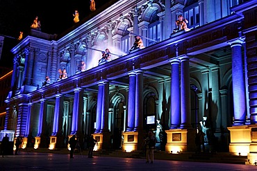 Stock exchange light art Luminale Frankfurt on the Main Germany