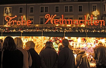 Christmas market Augsburg wishes you a merry x-mas Germany