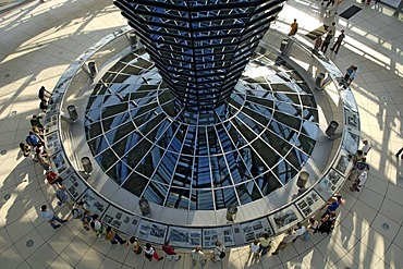 Interior of the dome of building Reichstag Berlin Germany