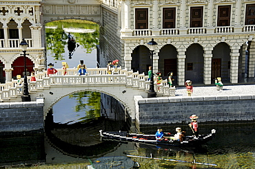 Seufzerbruecke in Venice made of Lego, theme park Legoland, Guenzburg, Germany