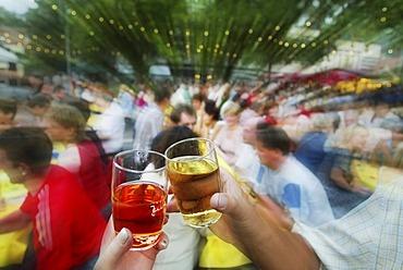 DEU, Heidelberg 31.07.2004 wine fair in Schriesheim near Heidelberg