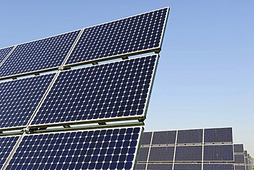 World's largest solar panel field, near Arnstein, Bavaria, Germany, Europe